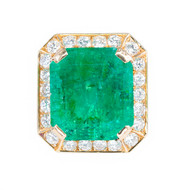 Colombian Emerald Diamond Ring