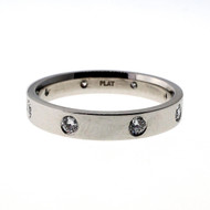 Men's Suchy Platinum 4mm Flat Platinum Wedding Band Ring .50ct Diamond