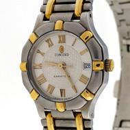Ladies Concord Saratoga 18k Gold Steel Quartz Date Watch