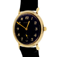 LeCoultre 1960 14k Gold Custom Colored Bright Deep Purple Dial Wrist Watch