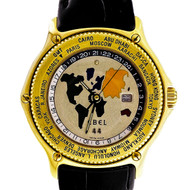 Ebel Globe World Time 18k Gold Automatic Limited Edition Wrist Watch
