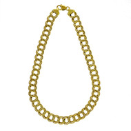 1970 Vintage 17 Inch Double Swirl Link 14k Yellow Gold Chain Necklace