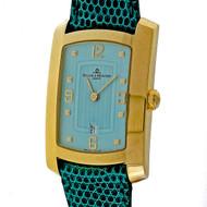 Baume & Mercier 18k Yellow Gold Capetown Automatic Watch Custom Blue Dial