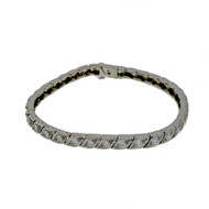 Edwardian Deco Platinum 2.00ct Old Diamond Bracelet