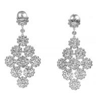 Vintage Red Carpet Tiffany & Co 4.15ct Rose Diamond Platinum Dangle Pendant Earrings