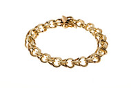 Estate Heavy 14k Double Spiral link bracelet<br><br>