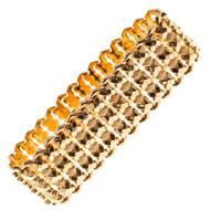 Estate 18k Pink Gold 1945 Retro Bracelet<br><br>