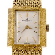 Vintage 1950 Baume & Mercier 18k Yellow Gold Mesh Wrist Watch