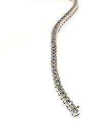 Estate 3.00ct Diamond Semi Bezel 14k White Gold Bracelet