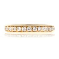 Bead Set Pave PSD 3.5mm Wide .75ct Diamond 14k Yellow Gold Wedding Band Ring