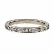 Bead Set Pave PSD 2.7mm Wide .22ct Platinum Diamond Wedding Band Ring