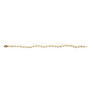 Estate 1960 6mm Cultured Pearl Bracelet Japanese Akoya 14k Catch
