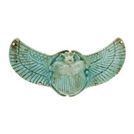 Antique Ancient Egyptian New Kingdom Winged Scarab 14k Victorian Pin