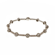 Tacori Platinum Diamond .90ct  Bead Set Hinged Link Bracelet