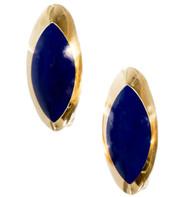 Bergio Natural Bright Blue Lapis 18k Earrings