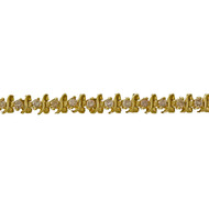 "1960 14k Yellow Gold 1.60ct Diamond ""S"" Link Bracelet"