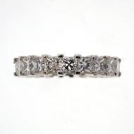 4.00ct Princess Cut Diamond Platinum Eternity Ring Wedding Band PSD