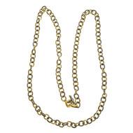 Estate David Yurman Oval Link 30 Inch Long Silver 18k  Yellow Gold Necklace