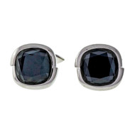 Stephen Webster Faceted Hematite 18k White Gold Crystal Haze Cuff Links