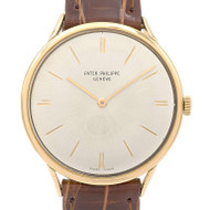 Patek Philippe Calatrava 3484 Gold 1960's Strap Watch