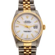 Men's Rolex Datejust 18k Steel 1992 16233