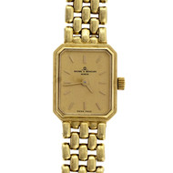 Ladies 1980 Baume & Mercier 14k Yellow Gold Classic 5 Row Panther Wrist Watch