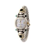 Vintage David Yurman Amethyst Silver 14k Gold Quartz Cable Watch