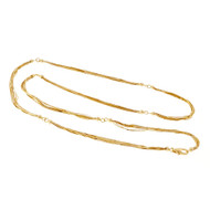 10 Strand Italian Necklace 14k Yellow Gold