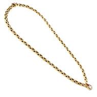 Estate 3 Row Panther Diamond Necklace Kurt Gutman 14k Yellow Gold