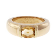 Estate Chaumet Citrine 18k Yellow Gold Ring