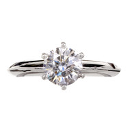 Authentic Tiffany & Co Platinum Engagement Ring GIA Certified Diamond