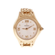Movado 14k Yellow Gold Ladies Wrist Watch Quartz Gold Band