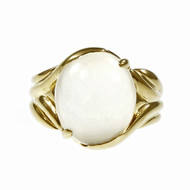 Rare Estate Double Cats Eye Moonstone Ring 18k Yellow Gold