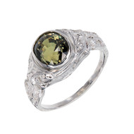Antique Estate 1910 Alexandrite Ring Platinum Diamond
