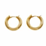 Hoop Earrings 18k Yellow Gold Round
