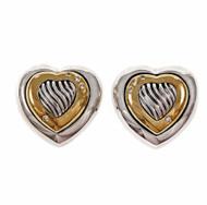 David Yurman Thoroughbred Diamond Heart Earrings