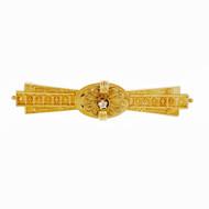 Antique Georgian 1800 Granulated Pin Rose Cut Diamonds 14k Yellow Gold
