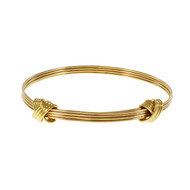 Asprey Knot Design Adjustable Bangle Bracelet 18k Yellow Gold