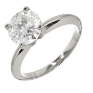 Transitional Ideal Cut Diamond Engagement Ring 14k White Gold