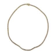 Estate Graduate Diamond Necklace 14k White & Yellow Gold