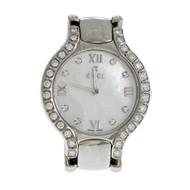 Ladies Ebel Beluga Stainless Steel Mother Of Pearl Diamond Dial Diamond Bezel