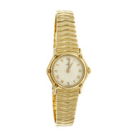 Ebel Wave 18k Gold Ladies Quartz Ivory Dial 866901