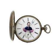 Civil War Pocket Watch MJ Tobias Liverpool 1850 Silver Antique Franz Sigel