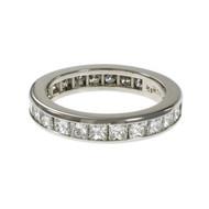 Byard F. Brogan Princess Cut Diamond Eternity Band Ring Platinum