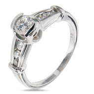 Bezel Set Engagement Ring Platinum Diamond EGL Certified