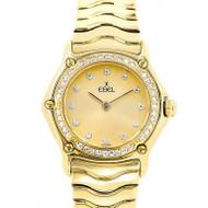 18k Ebel Ladies Watch Wave Diamond Bezel & Dial