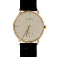 Vintage Patek Philippe Vintage Calatrava 3410 Wrist Watch 18k Rose Gold