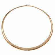 Omega Chain 8mm Wide Domed 14k Yellow Gold