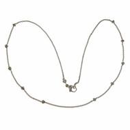 Aaron Basha Diamond Station Necklace 18k White Gold