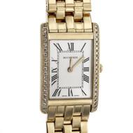 Bucherer Diamond Rectangular Watch 18k Yellow Gold